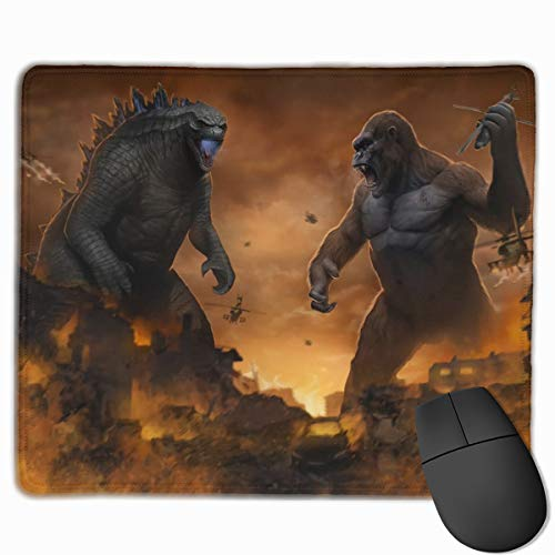 Godzilla Vs Kong Mouse Pad for Laptop, Extended Comfortable Mouse Mat with Stitched Edge, Best Desk Pad for Desktop - 9.8x11.8 in
