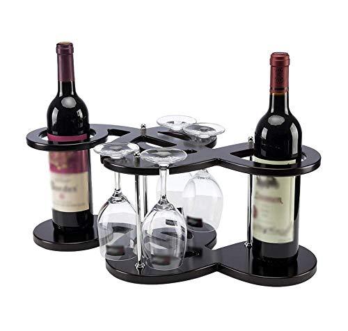 YFGQBCP botellero Estante del Vino Estante Europeo Creativo del Vino Estante de Madera Estante del Vino Estante Simple Botella de Vino Decorativo