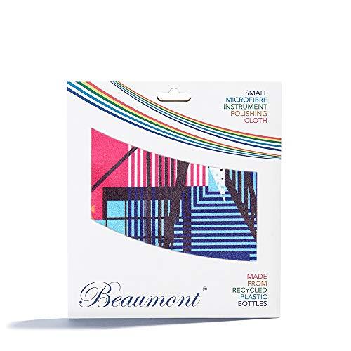 Beaumont Pulido y Limpieza Estampado 'Neon Arcade' Instrumentos Trompeta Clarinete Saxo Flauta Paño de Limpieza de Microfibra Reciclada Latón Plata 25 x 25cm (BFC-NA)
