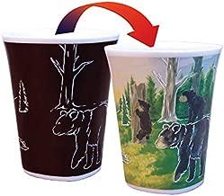 Color Changing Mug - Adventurous Black Bear Story - Large 16 Ounce - Porcelain