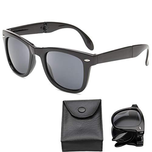 Gafas de sol plegables plegables unisex de gafas...