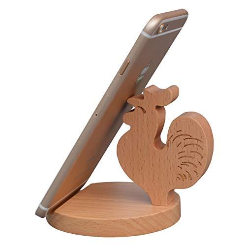Mkurbgpjtrxz Soporte Para Teléfono Celular Para,Decoración De Escritorio De Madera, Soporte Para Teléfono Para Tableta De Escritori