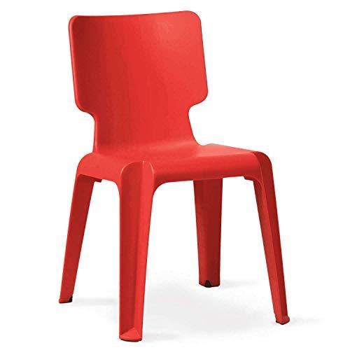 Stapelstuhl, Kunststoff Stuhl Authentics Wait robust versch.Farben rot
