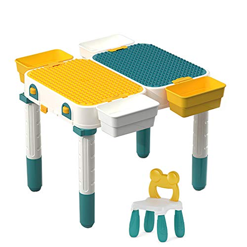 Multifunctional Building Block Activity Table, Building Table for Variable Scooter Children'S Entertainment Table for Storing Toys, Desk Writing Activities Desk