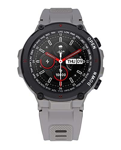 Reloj Smart de Radiant. Colección Watkins Green. Reloj con Correa de Silicona Gris y Caja a Tono. 45mm de diámetro. IP67. Referencia RAS20603.