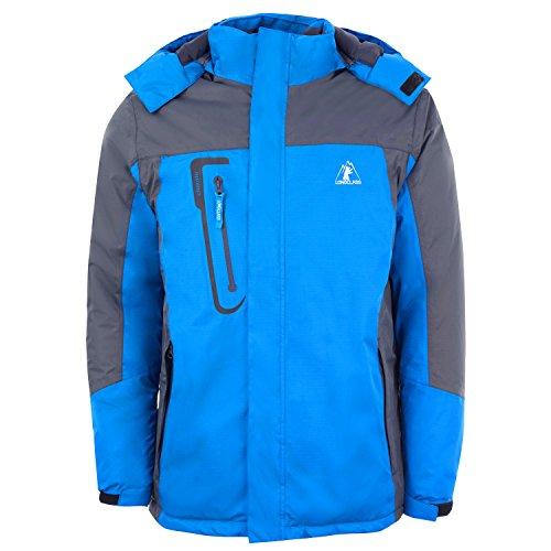 LONGCLASS Sportjacke Herren Winter XL leicht blau wasserdicht atmungsaktiv Snowboardjacke Softshelljacke Wintersportjacke Männer Blaue Skijacke Funktionsjacke