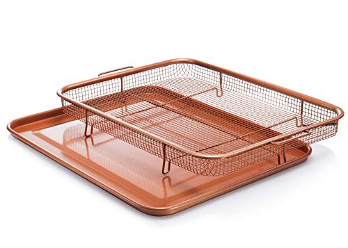 Gotham Steel Nonstick Copper Crisper Tray - AIR FRY IN YOUR OVEN - As Seen on TV by Daniel Green, Large