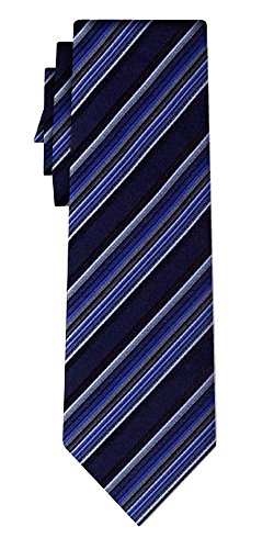 Cravate soie rayée stripe blue