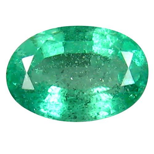 エメラルド ルースストーン 0.50 ct Oval Cut (6 x 4 mm) Colombiann Emerald Natural Loose Gemstone