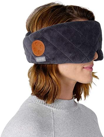 Pure Enrichment Wave Sound Therapy Eye Mask Rechargeable Bluetooth Speakers Light Blocking Design product image