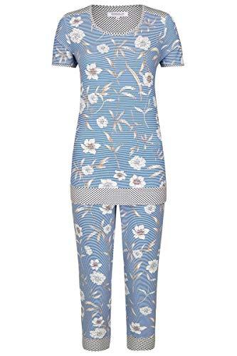 Ringella Damen *Pyjama mit Caprihose Blue 42 0211224, Blue, 42