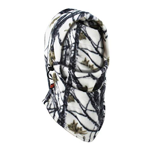 ECYC VéLo Ski Coupe-Vent Camo Balaclava Chapeaux Cache-Cou en Molleton Thermique Balaclava Masque Visage ExtéRieur, Camouflage Blanc