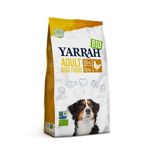 YARRAH Adult Nahrhaftes Bio-Trockenfutter für Hunde – für alle Erwachsenen Hunde | Exquisite Biologische Hundebrocken mit Huhn, 15kg | 100% biologisch & frei von künstlichen Zusätzen