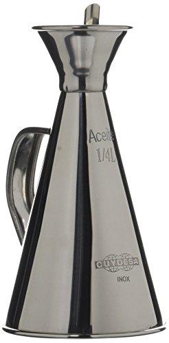 CUYDESA Oliera Cucina Anti-gocciolamento 1/4 litro Acciaio Inox