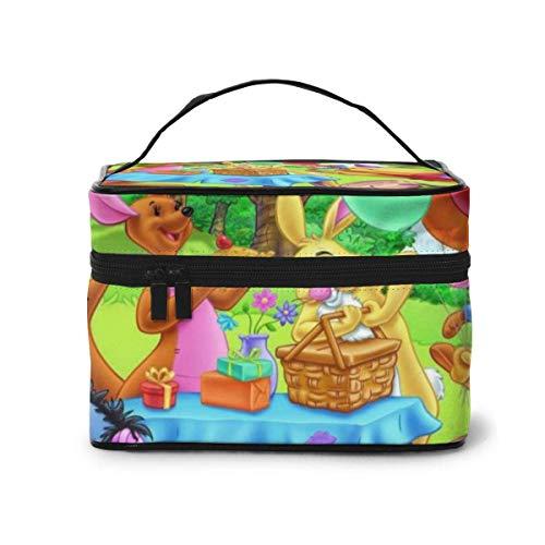 Bolsa de maquillaje, bolsa de cosméticos portátil de viaje, bolsa grande de malla B, organizador de artículos de tocador para mujeres y niñas