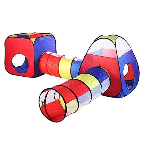 ADDG Baby-Spiel-Haus-Zelt für Kinder Spielzeug-Kind-Plastikhaus Game Play aufblasbares Zelt Crawl-Tunnel