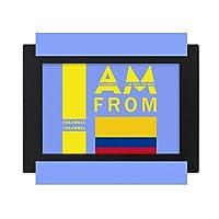 コロンビア出身です デスクトップフォトフレーム画像ブラックは、芸術絵画7 x 9インチ