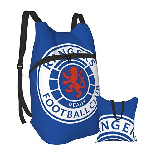 Glasgow Rangers Fc Logo Light Folding Backpack Foldable Portable Travelling Pack Casual Backpack for Hiking Camping Sports School for Men Women