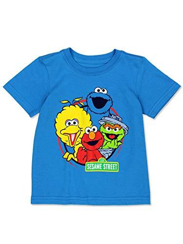Sesame Street Baby Toddler Boy's Girl's Short Sleeve T-Shirt Tee (Sesame Street Blue, 2T)
