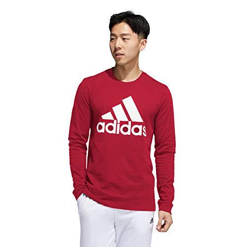 adidas Men's Core 18 Sweatshirt (Red, Large)