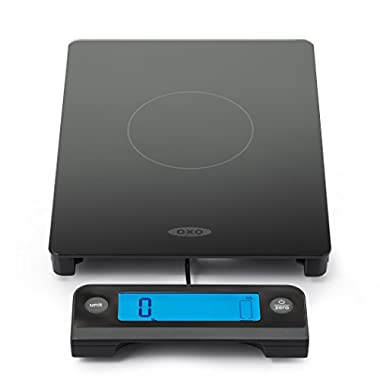 OXO Good Grips Digital Glass Food Scale with Pull Out Display, 11 Pound Black