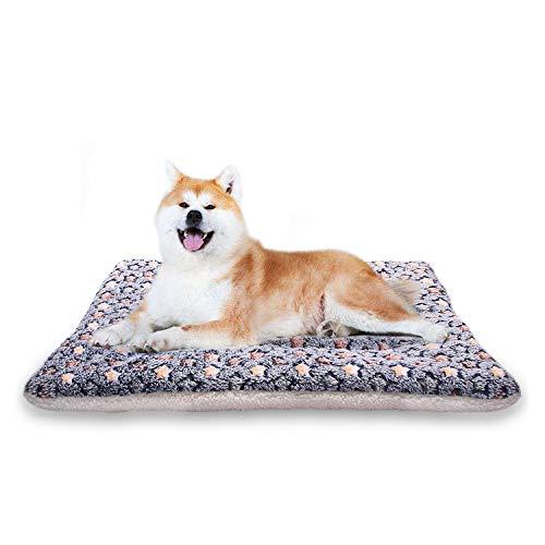 YUHUAWYH Manta para Perros Fluffy Fleece Fabric Suave y Grueso la Cama para Perros es Lavable a Máquina Adecuada para Gatos Perros y Otros Animales/XL: 100 * 75CM, Azul Oscuro