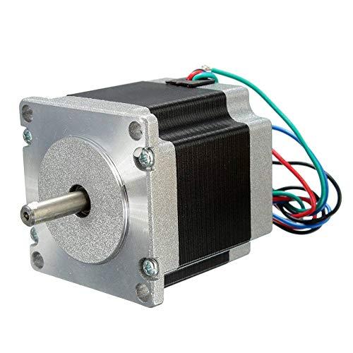 Motor paso a paso Nema23 de 56 mm, 24 V, 2 fases, 4 cables, 1,8 grados, para impresora 3D, equipo de monitoreo CNC, máquina médica