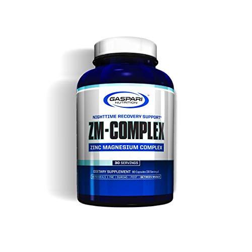 Gaspari Nutrition ZM-Complex Confezione da 1 x 90 Capsule ZMA Zinco Magnesio Vitamina B6 Supporto Per il Recupero Notturno