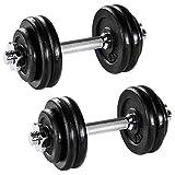 Generic 2x 15kg allenamento fitness cast ST bicipiti ferro GY set manubri pesi Dumbb bicipiti ferro ISE Fitne formazione esercizio l set peso palestra allenamento 2x 15kg