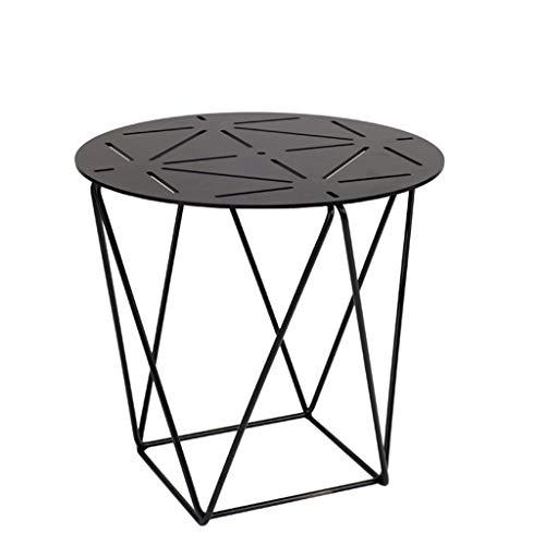 TangMengYun Table basse géométrique de balcon, Cabinet latéral en fer forgé de table d'appoint de salon créatif simple