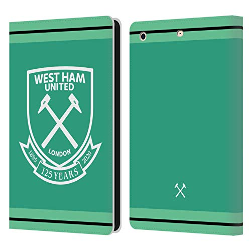 Official West Ham United FC Home Goalkeeper 2020/21 Crest Kit Leather Book Wallet Case Cover Compatible For Apple iPad mini 1 / mini 2 / mini 3