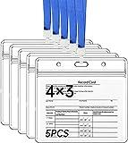 Protector de Tarjeta de Identificación de Registro Etiqueta de Tarjetas Funda de Plástico de Vinilo Transparente con Cremallera Resellable de Tipo Impermeable para Eventos y Viajes. (10x7.6CM)