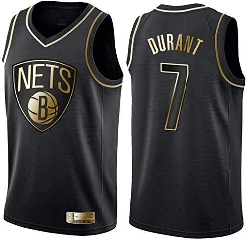 WSUN Camiseta De Baloncesto para Hombre NBA Kevin Durant # 7 Brooklyn Nets Camisetas Sin Mangas Unisex De La NBA Trajes De Competición Deportiva Al Aire Libre Chaleco De Baloncesto,L