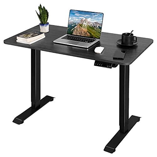 JUMMICO Escritorio para ordenador con altura regulable eléctrica, mesa de estudio para el hogar o la oficina (negro) ✅