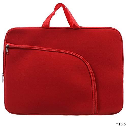 Capa Para Notebook Prime 15.6 Polegadas Com Bolso E Alça De Mão (Vermelho)