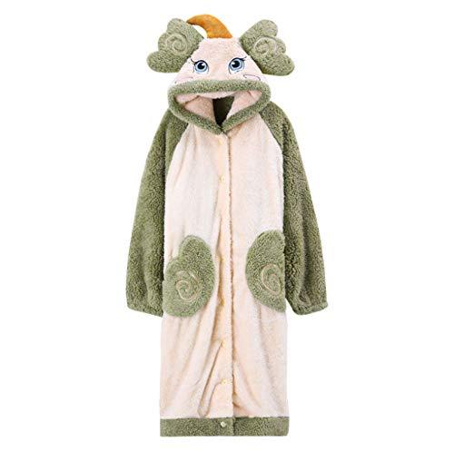 LEYUANA Pijamas de Franela con Capucha, Batas de Noche cálidas, Batas de Dormir, camisón, Bata, Ropa de Estar LW