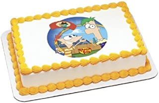 Phineas & Ferb Agent P Arrives Personalized Edible Cake Image Topper by Deco