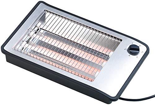 Rosenstein & Söhne Toaster: Flachtoaster für bis zu 4 Brötchen, 3 Heizelemente, Timer, 600 Watt (Brötchentoaster)