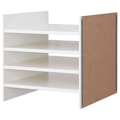 Ikea Kallax Bandeja con 4 estantes, 33 x 33 cm, color blanco