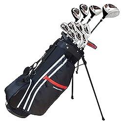in budget affordable Prosimmon Golf X9 V2 Tall +1 ″ Men's Set  Graphite / Steel Golf Bag – Stiff Flex