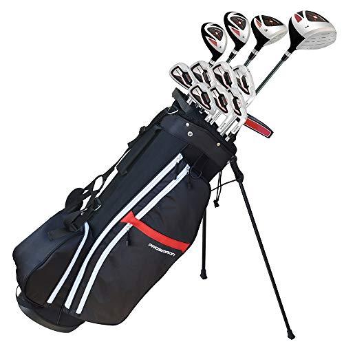 "Prosimmon Golf X9 V2 Tall +1"" Mens Graphite/Steel Golf Club Set & Bag - Stiff Flex"