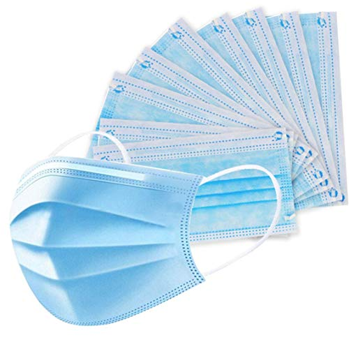 eZthings Disposable Face Masks for Personal Protective Equipment Safety (50 Masks)