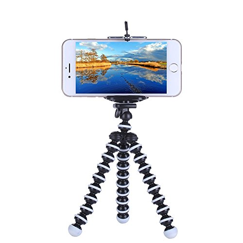 Rienar Octopus Style Flexible Portable and Adjustable Tripod Stand Holder for Small Camera Smart iPhone Cellphone