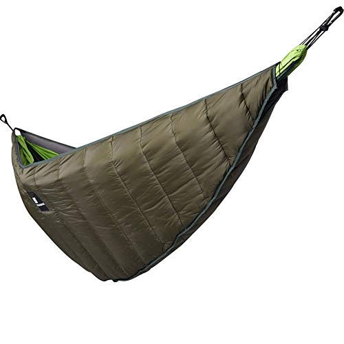Wenzhihua Camping Lightweight Ultralight Outdoor Camping Hammock Underquilt Portable Winter Warm Under Quilt Blanket Cotton Hammock Camping Hammock Portable (Color : Green, Size : One size)
