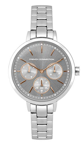 French Connection Quarz Uhr mit Edelstahl Armband FC134SM