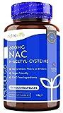 NAC N-acetil-cisteína 600 mg - 150 cápsulas veganas - Suministro de 5 meses de suplemento NAC - Alta biodisponibilidad - Sin rellenos ni aglutinantes sintéticos - Fabricado por Nutravita
