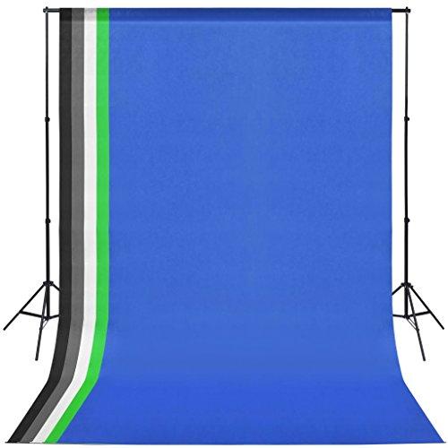 Kit de Estudio fotográfico de Aluminio 5 telones de Fondo de Colores y 2 sombrillas 89 x 28 x 30 cm (Largo x Ancho x Alto).
