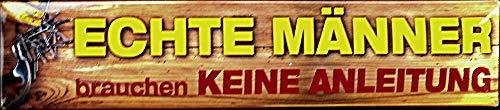Blechwaren Fabrik Braunschweig GmbH echte Männer brauchen keine (français non garanti) Plaque de rue Magnet en aluminium 16 x 3,5 cm STR-M 37