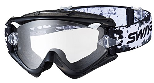 SWANS(スワンズ)ダートゴーグル フレームカラー:ブラック レンズカラー:クリア MX-RUSH-PET