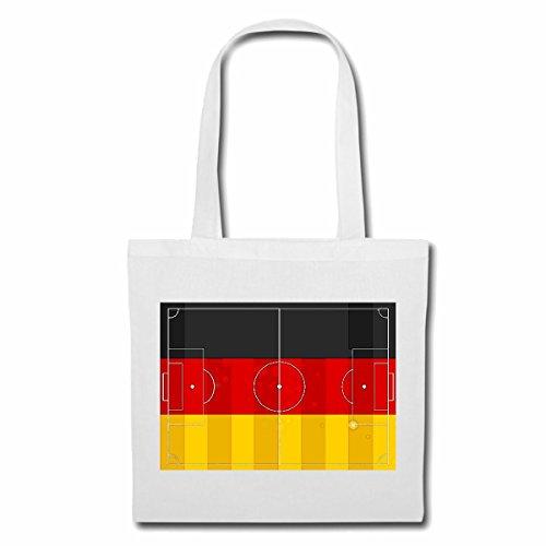 Tasche Umhängetasche Spielfeld Fussball Football Deutschland Germany Weltmeister Europameister Frankreich Viertelfinale Halbfinale Finale Europameisterschaft Einkaufstasche Schulbeutel Turnbeutel